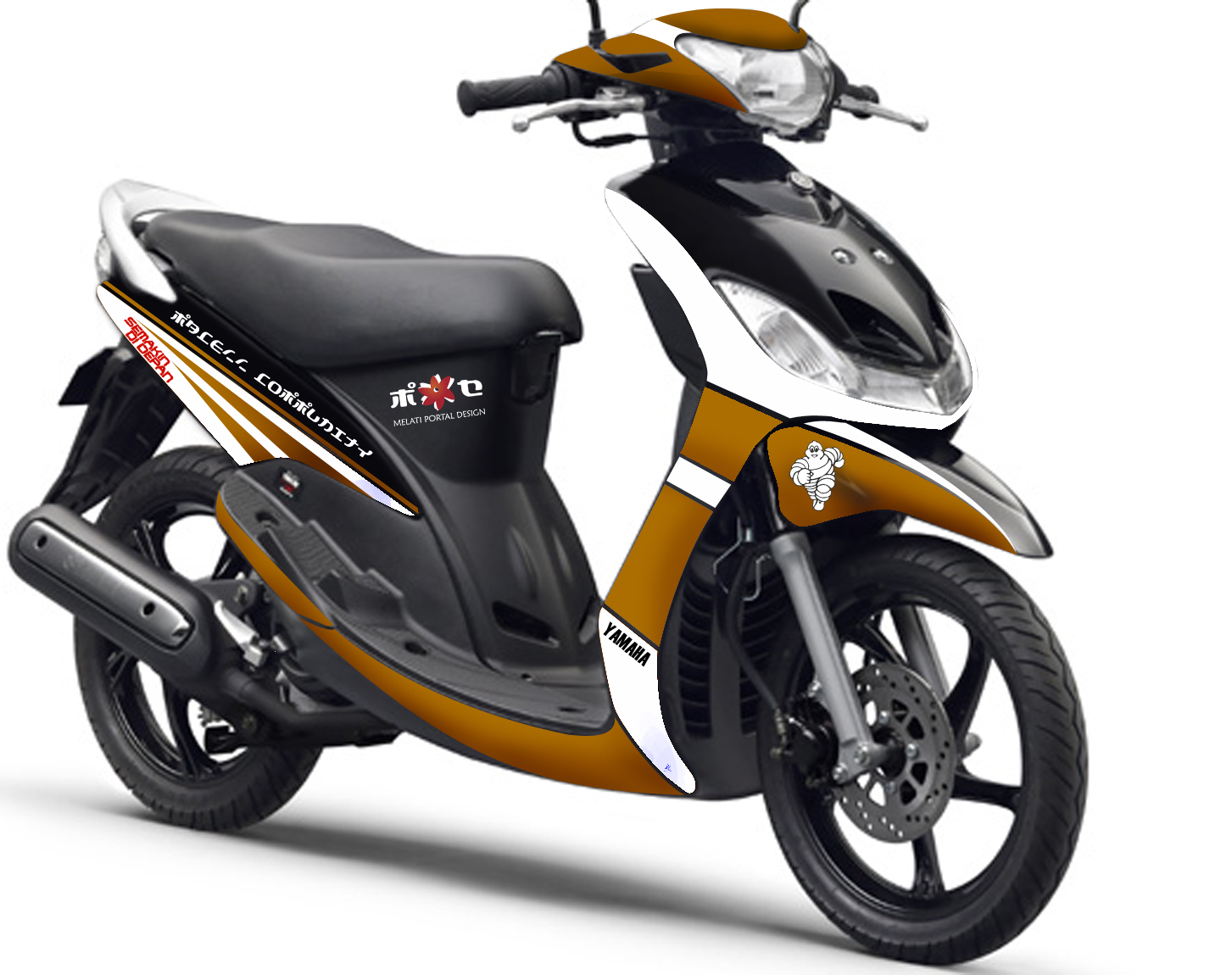 Modifikasi Motor Mio Sporty Warna Putih Pecinta Modifikasi